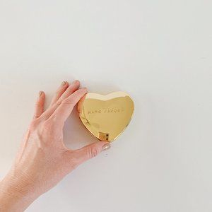marc jacobs gold heart compact mirror